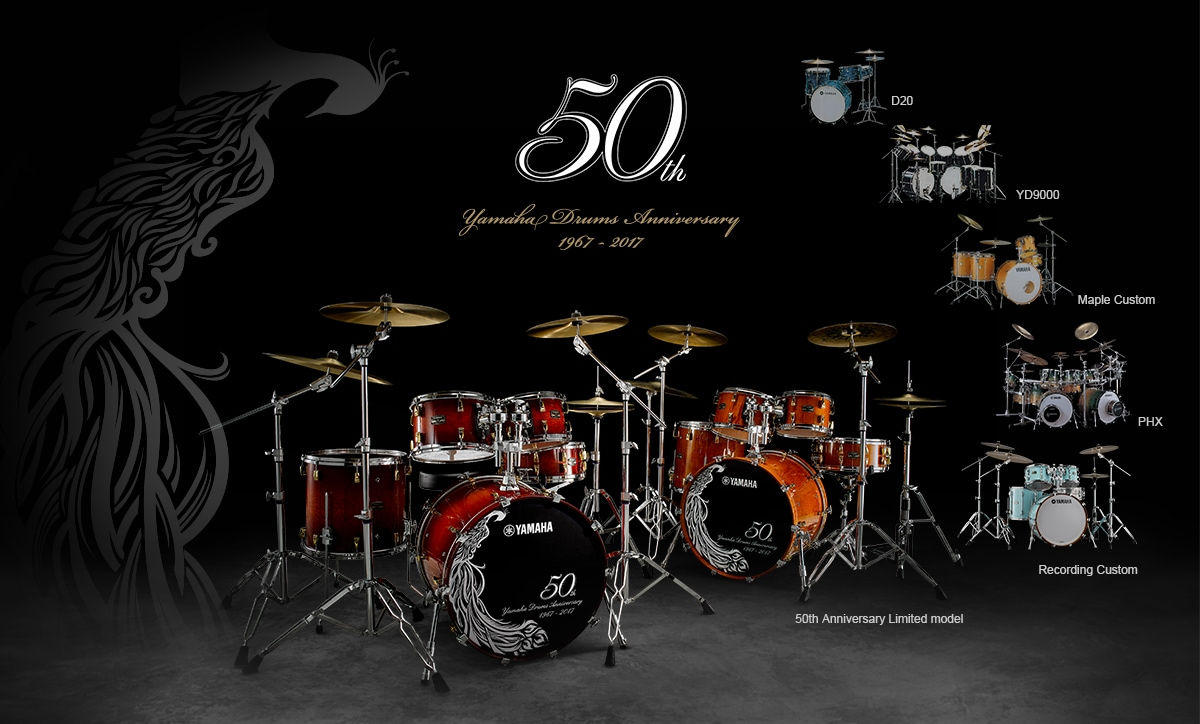 50th Yamaha Drums Anniversary 1967-2017